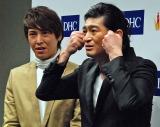 (左から)『DHCダイエットアワード2015 グランプリ大会』に出席したハイキングウォーキング・鈴木Q太郎と松田洋昌 (C)ORICON NewS inc.