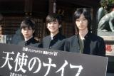 WOWOWのドラマ『天使のナイフ』ヒット祈願イベントに出席した(左から)村上虹郎、北村匠海、清水尋也 (C)ORICON NewS inc.