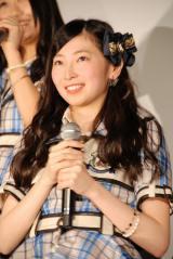 ドキュメンタリー映画『アイドルの涙 DOCUMENTARY of SKE48』完成披露舞台あいさつに登壇した大矢真那 (C)ORICON NewS inc.