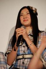 ドキュメンタリー映画『アイドルの涙 DOCUMENTARY of SKE48』完成披露舞台あいさつに登壇した北川綾巴 (C)ORICON NewS inc.