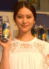 出演したCM内で本気チュー顔を何度も撮影したことを明かした武井咲=キリン『氷結』新CM発表会 (C)ORICON NewS inc.
