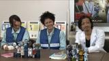 (左から)広瀬アリス、林遣都、金子ノブアキがゾンビメイクで座談会(C)「玉川区役所 OF THE DEAD」製作委員会