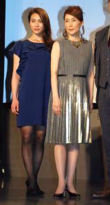 ミュージカル『シャーロック ホームズ2〜ブラッディ・ゲーム〜』に出席した(左から)秋元才加、一路真輝 (C)ORICON NewS inc.