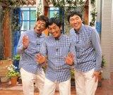 さんまが3人!?(左から)原口あきまさ、明石家さんま、ほいけんた(C)関西テレビ