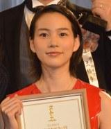 『第38回日本アカデミー賞』で新人俳優賞を受賞した能年玲奈 (C)ORICON NewS inc.
