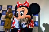 カリフォルニア ディズニーランド・リゾート開園60年会見に登場したミニー (C)oricon ME inc.