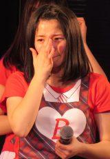 感極まって涙するメンバーも(28日=AKB48劇場) (C)ORICON NewS inc.