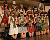 『SUPER☆GiRLS Special ONE day 〜Thank you 510〜』公演前に報道陣の取材に応じたSUPER☆GiRLS (C)ORICON NewS inc.