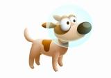 『モジポップン〜100の海と情熱の大陸〜』のバディ「愛犬パッション」(C) GungHo Online Entertainment, Inc. All Rights Reserved.