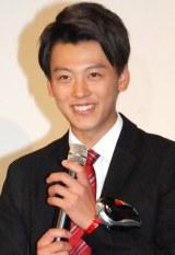 仮面ライダーシリーズの新作映画『スーパーヒーロー大戦GP 仮面ライダー3号』完成披露イベントに出席した竹内涼真 (C)ORICON NewS inc.