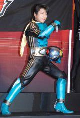 仮面ライダーシリーズの新作映画『スーパーヒーロー大戦GP 仮面ライダー3号』完成披露イベントに出席した及川光博 (C)ORICON NewS inc.