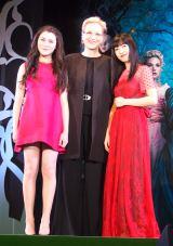 (左から)リラ・クロフォード、 メリル・ストリープ 、神田沙也加 (C)ORICON NewS inc.
