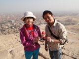 『世界ふしぎ発見!』が番組史上初のピラミッド登頂に成功(C)TBS