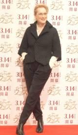 映画『イントゥ・ザ・ウッズ』来日記者会見に出席したメリル・ストリープ