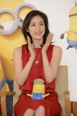 映画『ミニオンズ』吹き替え声優キャスト発表会見に出席した天海祐希