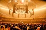 1万2000人の観客にぐるりと囲まれたセンターステージ photo by:佐藤薫