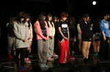 SKE48劇場で行われた黙祷の模様(C)AKS