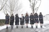 2015年3月11日 岩手県釜石市を訪れたAKB48の黙祷の模様(C)AKS