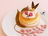 『桜餅と桜クリームのパンケーキ』