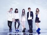 エイベックスの男女5人組lol(エーオーエル) 写真左から小見山直人、honoka、moca、佐藤友祐、hibiki