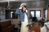『第60回びわ湖開き』恒例の一日船長を務めた柳ゆり菜 (C)NHK