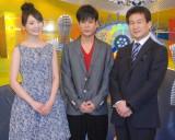 収録後に取材に応じた(左から)おのののか、名倉潤、辛坊治郎 (C)ORICON NewS inc.