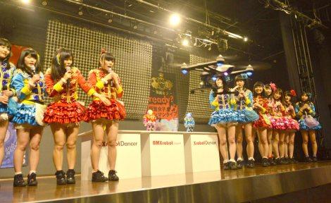 BMX robot Japan新作ロボット記者発表に出席した仮面女子 (C)ORICON NewS inc.