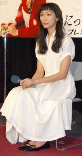 NHK BSプレミアム『にっぽんプレミアム』キャンペーンの新ナビゲーターに就任した杏 (C)ORICON NewS inc.