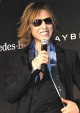 『Mercedes-Benz Fashion Week TOKYO』の2015-16秋冬のオープニングレセプションに出席したYOSHIKI (C)ORICON NewS inc.