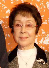 映画『おかあさんの木』クランクアップ報告会見に出席した奈良岡朋子 (C)ORICON NewS inc.