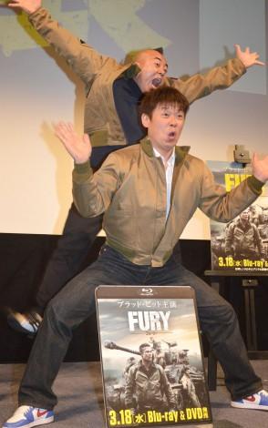 「炎」を披露するTIM=映画『フューリー』ブルーレイ&DVDリリース記念イベント (C)ORICON NewS inc.