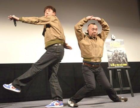 「祝」を披露するTIM=映画『フューリー』ブルーレイ&DVDリリース記念イベント (C)ORICON NewS inc.