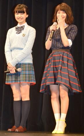 映画『暗殺教室』学生限定試写会に出席した(左から)竹富聖花、山本舞香 (C)ORICON NewS inc.