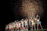 300発の花火が沖縄の夜空に咲いた(C)AKS