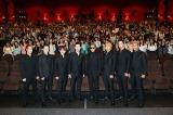 第3&4章振り返ったEXILE・(左から)世界、 白濱亜嵐、NAOTO、MAKIDAI、ATSUSHI、橘ケンチ、小林直己、関口メンディー=新アルバム『19-Road to AMAZING WORLD-』完成記念イベント