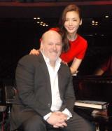 (写真左から)婚約中の作曲家フランク・ワイルドホーン氏、和央ようか (C)ORICON NewS inc.
