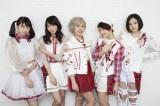 改名後第1弾シングルをリリースするベイビーレイズJAPAN。左から大矢梨華子、傳谷英里香、林愛夏、高見奈央、渡邊璃生(C)De-View 撮影/mika(f-me)