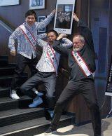 映画『ゼロの未来』のイベントに出席した(左から)田中裕二、太田光、テリー・ギリアム監督 (C)ORICON NewS inc.