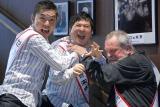 映画『ゼロの未来』のイベントに出席した(左から)太田光、田中裕二、テリー・ギリアム監督 (C)ORICON NewS inc.