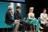 最終回のライブビューイングに続いて、主役夫婦を演じた玉山鉄二、シャーロット・ケイト・フォックスらがドラマを振り返った(C)NHK