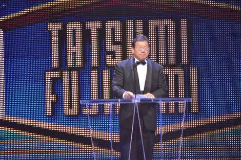 WWE『ホール・オブ・フェーム』記念式典の模様(C)2015 WWE, Inc. All Rights Reserved.