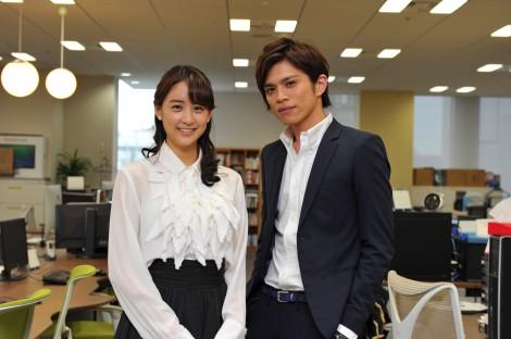 『東京PRウーマン』 で共演した(左から)山本美月、山本裕典