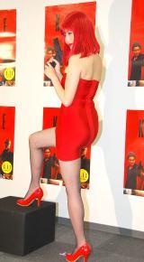 映画の登場人物に扮したセクシー衣装で登場した橋本マナミ=映画『KITE』公開記念トークイベント (C)ORICON NewS inc.
