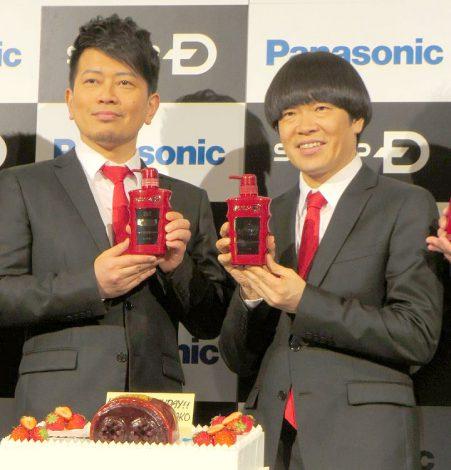 「アンファー新商品発表会」に出席した(左から)宮迫博之、蛍原徹 (C)ORICON NewS inc.