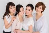 4月4日から登場する2015年度の旅サラダガールズ(左から) 広瀬未花、VANRI、柿木理紗、春輝(C)ABC