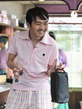 4月13日放送の『まれ』に出演する田中卓志(アンガールズ)(C)NHK