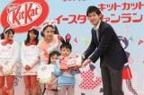 「ベストメッセージ賞」を獲得したのは小川竜明君。胸のゼッケンに書いた「足が速くなりたいです」