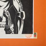 ワンピース初となる木版画作品「ポートガス・D・エース」
