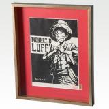 ワンピース初となる木版画作品「モンキー・D・ルフィ」