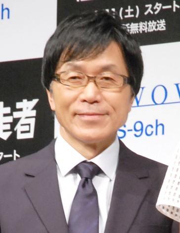 『連続ドラマW 闇の伴走者』の完成披露試写会イベントに出席した平田満